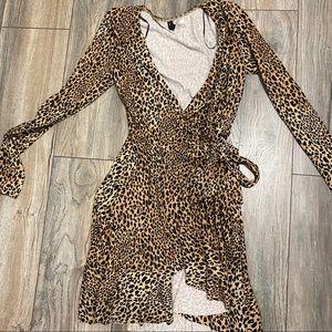 Leopard long sleeve dress